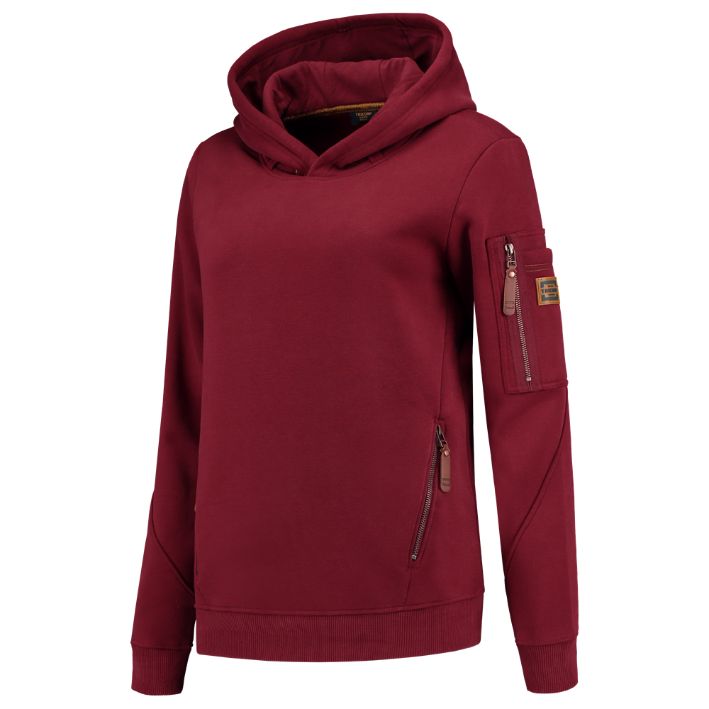 Premium 304006 Tricorp sweater hooded ladies bordeaux rood