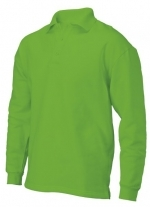 PS 280 polosweater recht met split lime