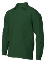 PS 280 polosweater recht met split bottlegreen