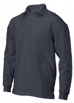 PS 280 polosweater recht met split darkgrey
