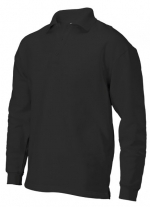 PS 280 polosweater recht met split black