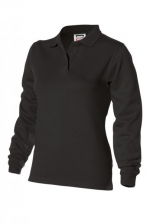PST 280 dames polosweater recht met split black