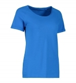 slub t-shirt Identity 0536 dames royal blue
