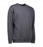 0600 sweater ronde hals ID Identity charcoal donkergrijs