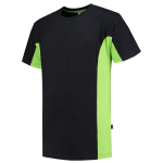 TT2000 bi colour t shirt black lime