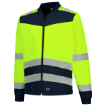 403021 Softshell high vis bicolour geel