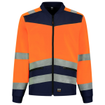 403021 Softshell high vis bicolour oranje