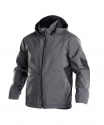 Gravity soft shell jack stretch Dassy grijs zwart