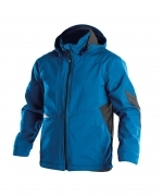 Gravity soft shell jack stretch Dassy blauw azuur zwart