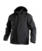 Gravity soft shell jack stretch Dassy zwart