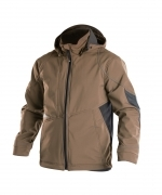 Gravity soft shell jack stretch Dassy klei bruin zw