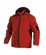 Gravity soft shell jack stretch Dassy rood