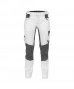 Helix Dassy dames werkbroek stretch wit grijs