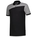 202006 Bi color poloshirts black grey side