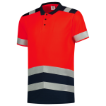 203007 poloshirt RWS high vis bi color rood reflectie