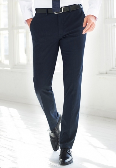 Pegasus Brook Taverner slim fit heren pantalon polkadot
